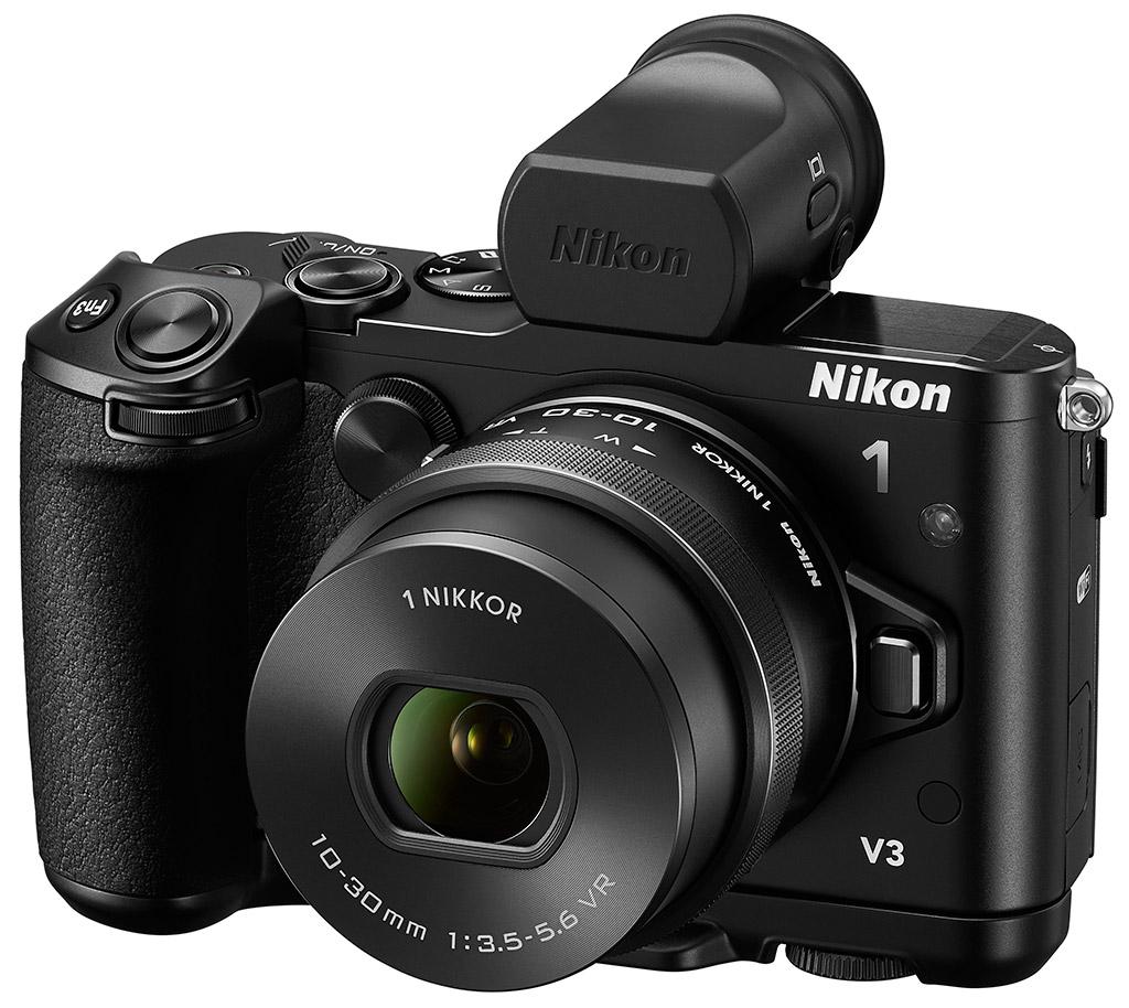 Les Appareils Nikon 1 J5 Double Kit 10 30mm 30 110mm Black V3 Avec Viseur Et Poigne Optionnels